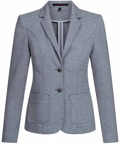 Jersey-Blazer Regular Fit Casual
