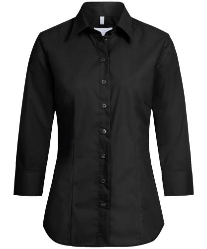 Damen-Bluse 3/4 Regular Fit Basic